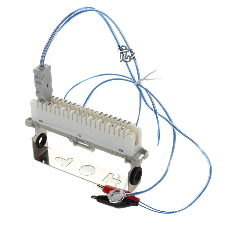 Krone Test cord/lead with RJ11 plug & alligator clips ISGM / TELSTRA - Click Image to Close